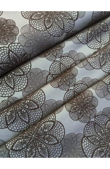 Tkanina zasłonowa 3d  w kwiaty