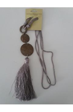 Chwost sznur  dekoracyjny pleciony kolor szary