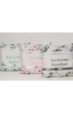 poduszka  z haftem dla babci lub dziadka