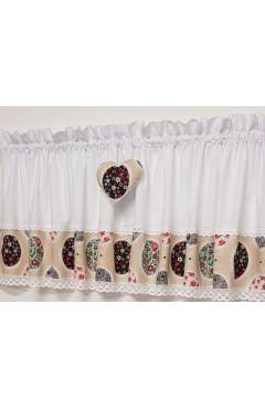 zazdrostka bawełniana świąteczna wielkanoc pisanki 150x40 serce
